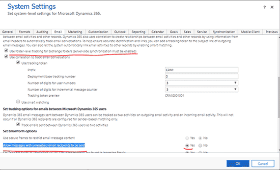 Update Email Contacts in Dynamics 365