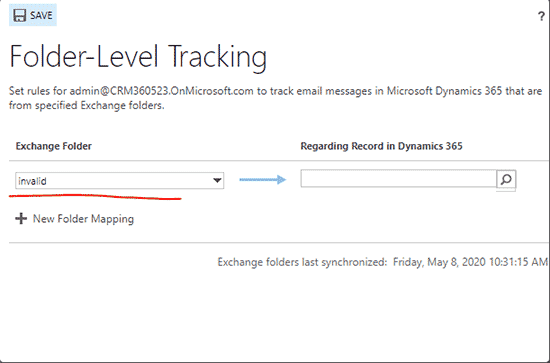 Update Email Accounts in Dynamics 365
