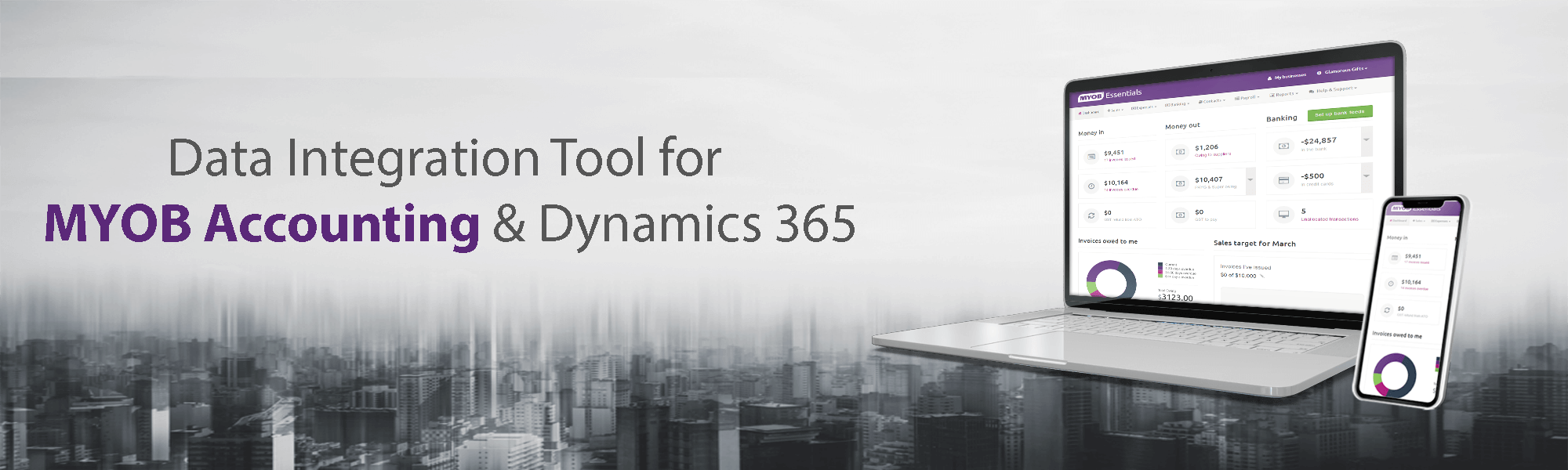 Data integration MYOB and Dynamics 365