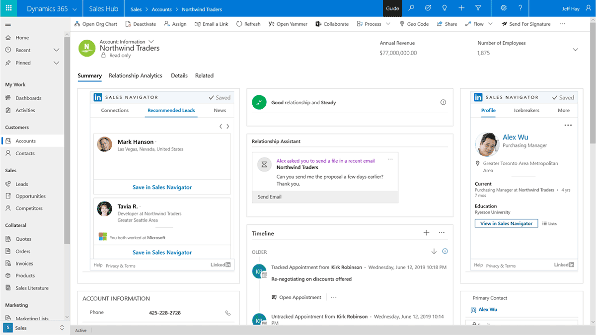 Dynamics 365 Sales Build Relationship