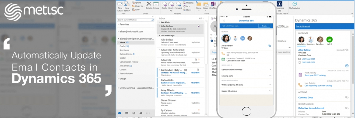 Automatically Update Email Contacts in Dynamics 365