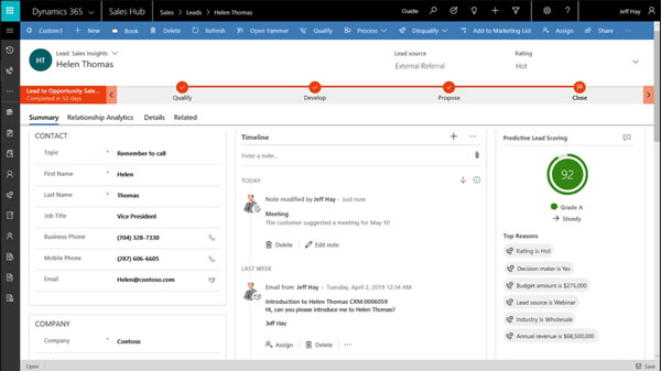 Dynamics 365 Sales Opportunity